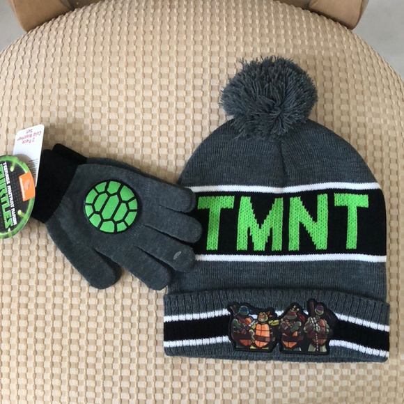 TMNT Ninja Turtles Hat and Gloves Col Weather Set a0d90148803f